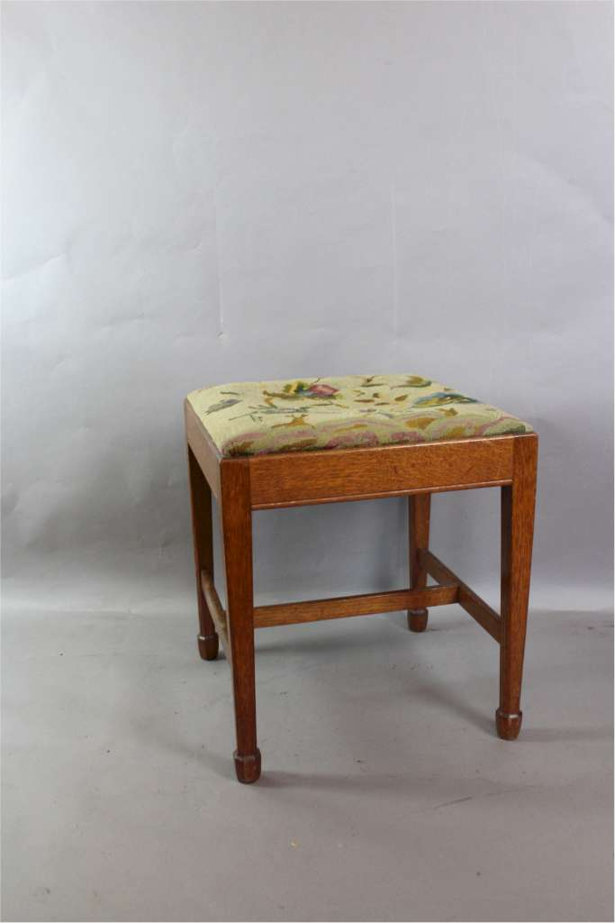 Arts And Crafts Oak Stool By Arthur Simpson And The