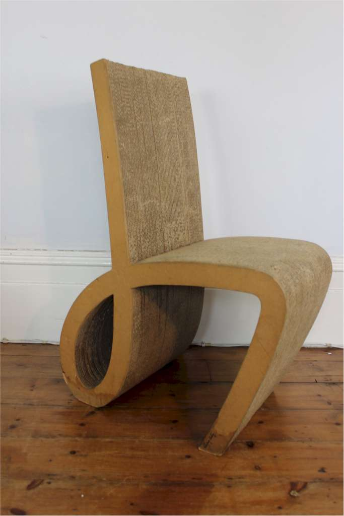 Signed Interieur carton; Interesting chair made of cardboard . & Interesting chair made of cardboard . Signed Interieur carton ...