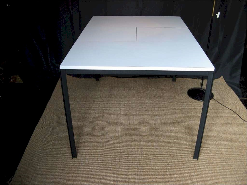 95 white metal dining table white lacquered cast metal - White metal dining table ...