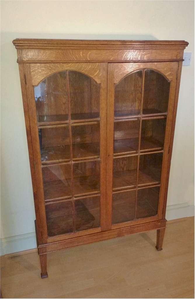 Quarter Sawn Arts And Crafts Bookcase In Golden Oak