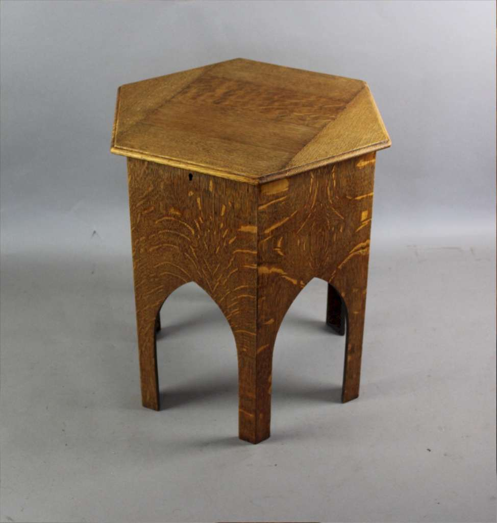 Arts And Crafts Sewing Box Table In Quarter Sawn Oak C1900 Sold Art Furniture