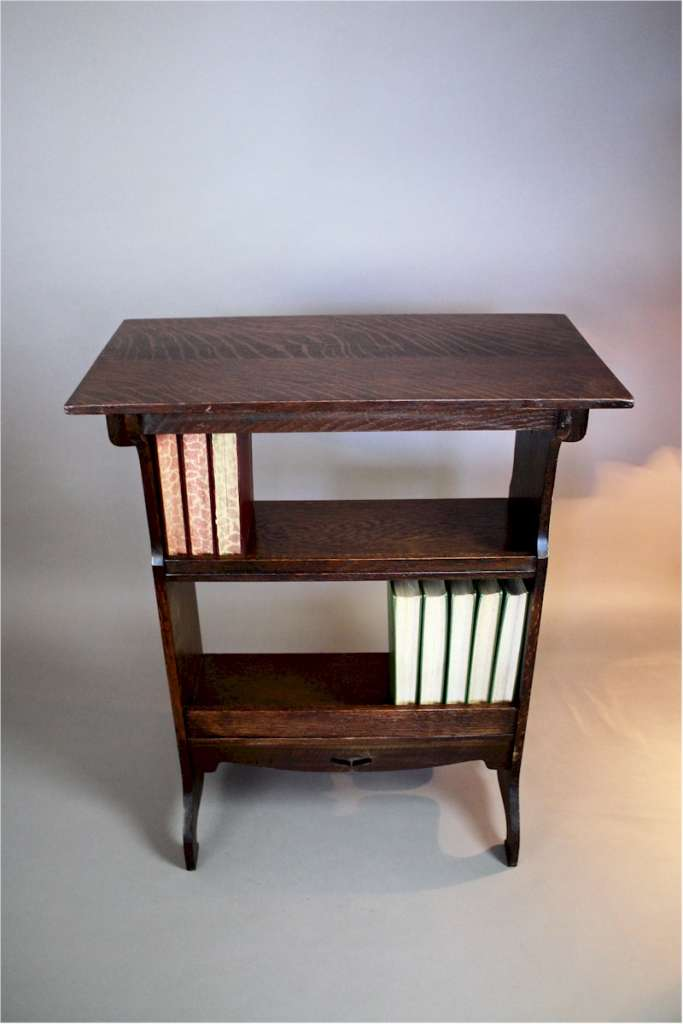 arts and crafts side table bookshelf c1900 latest