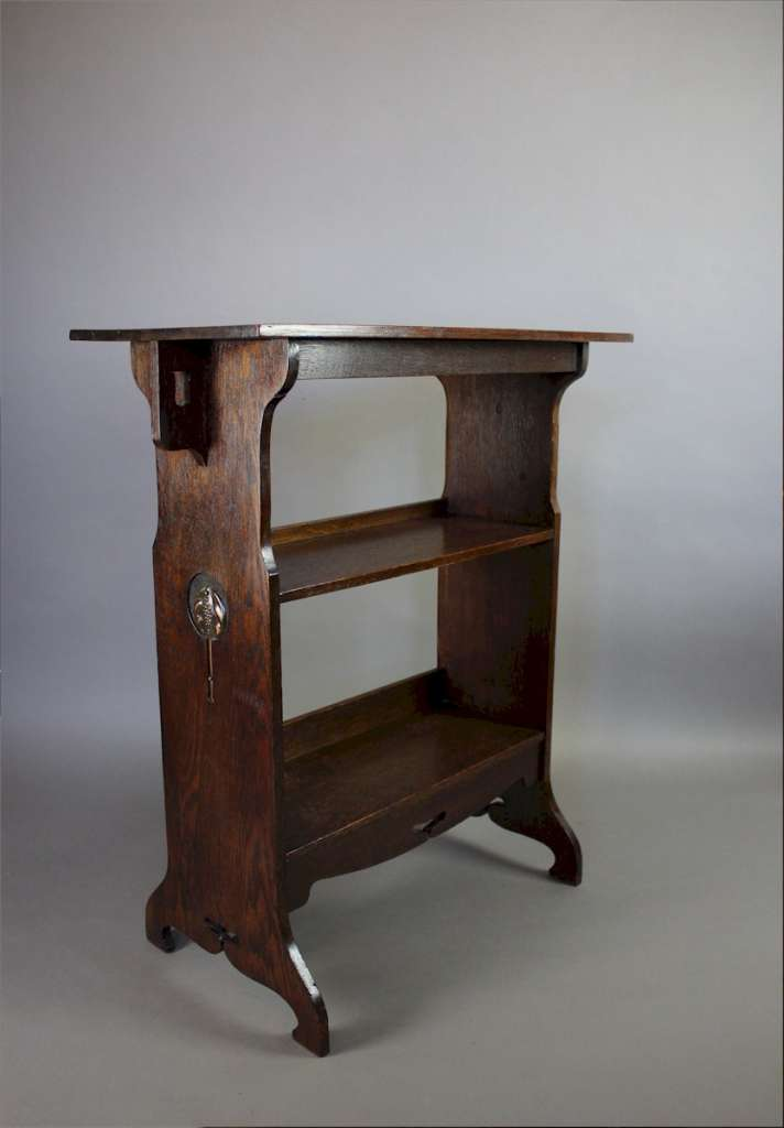 Arts and crafts side table bookshelf c1900 art for Arts and crafts side table