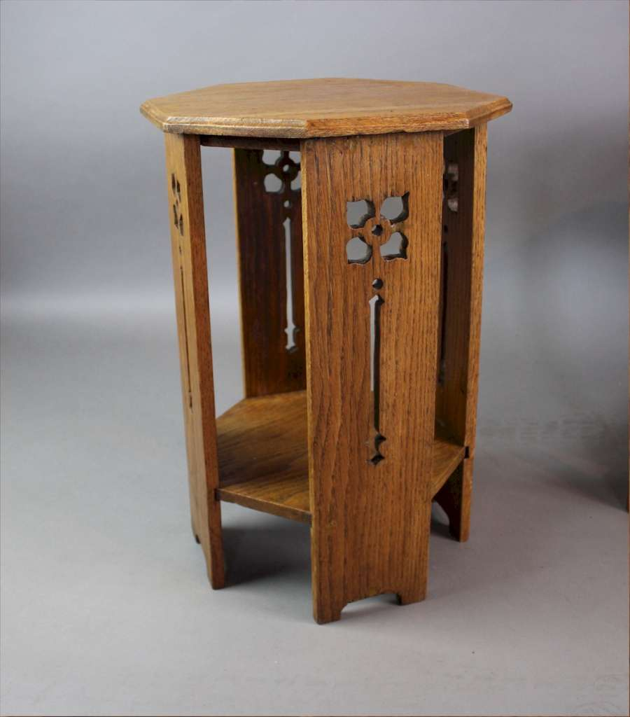 small arts and crafts lamp table c1900 latest stock. Black Bedroom Furniture Sets. Home Design Ideas
