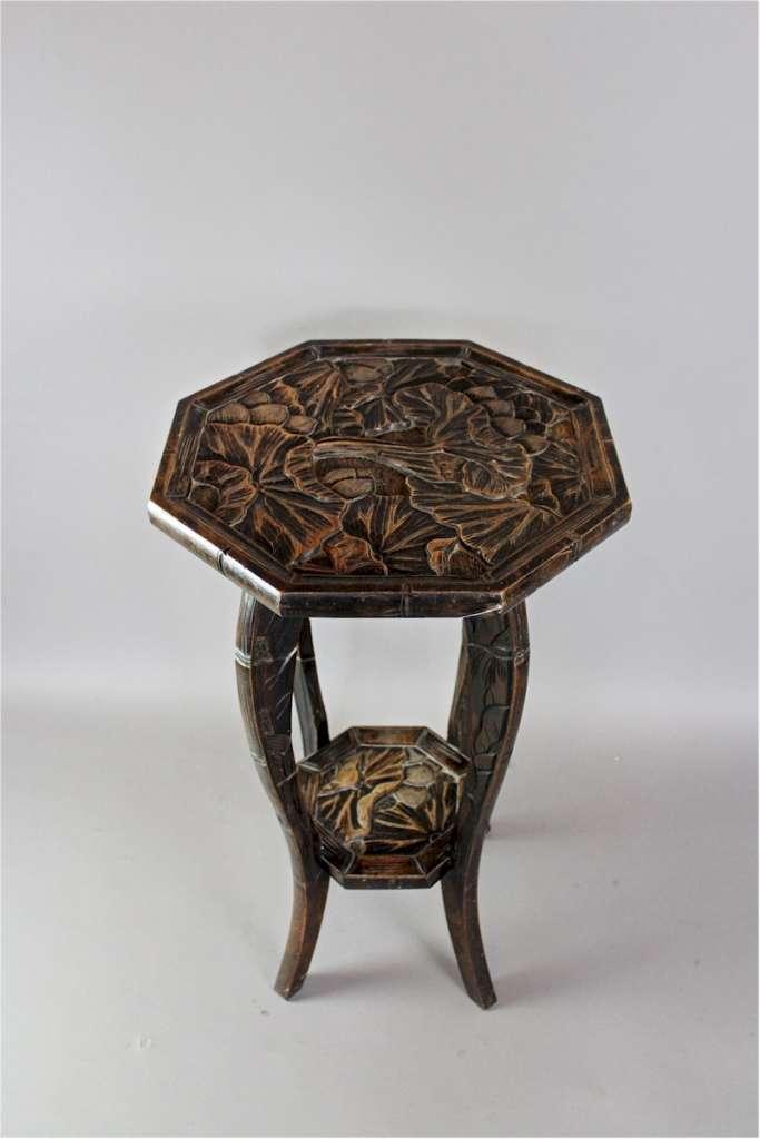 arts crafts japanese pedestal table for liberty co. Black Bedroom Furniture Sets. Home Design Ideas