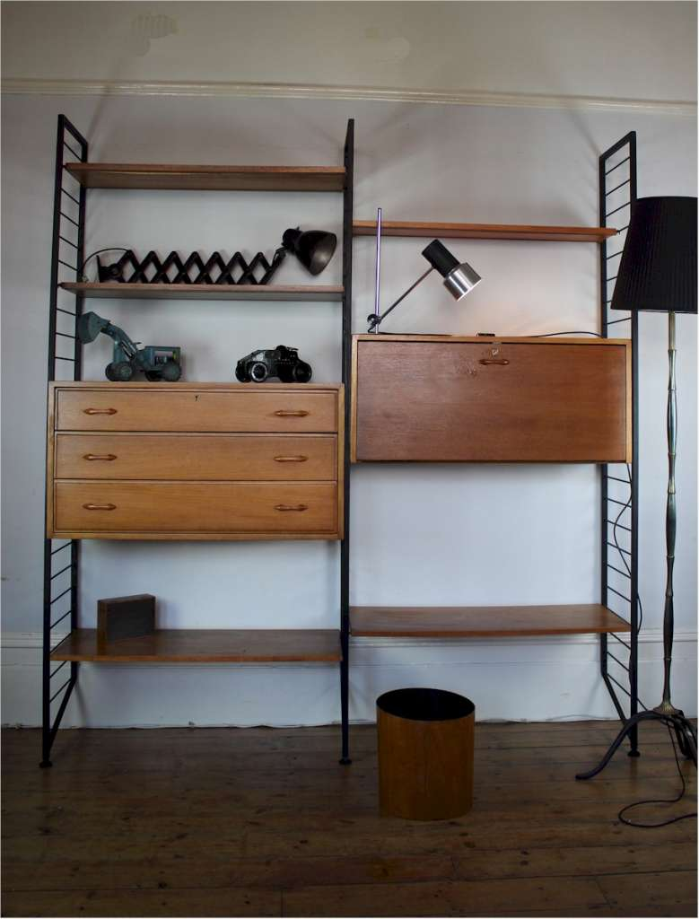 Mid Century Ladderax Shelving System By Staples Latest