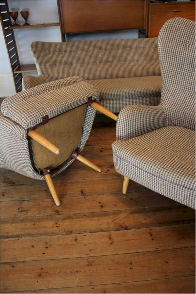 ernest race three piece suite furniture   chairs art