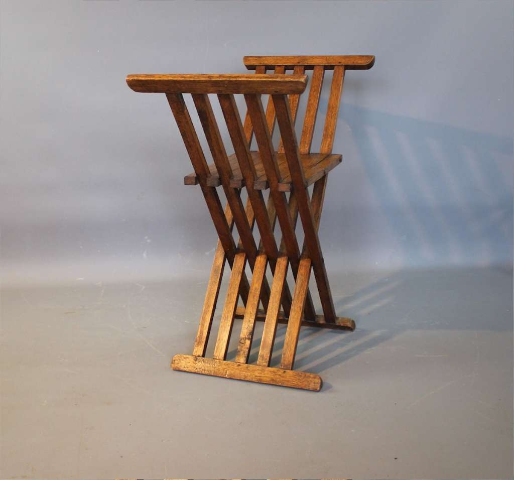 Admirable Arts And Crafts Folding Oak X Stool Liberty Co Machost Co Dining Chair Design Ideas Machostcouk