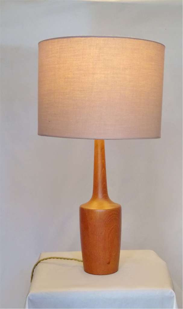 Danish Mid Century Modern Table Lamp In Teak Lighting Tablelamps 2 Art Furniture