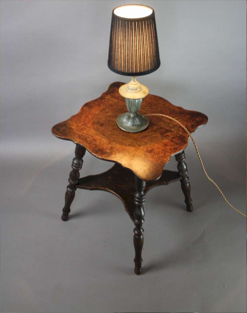 Small antique oak lamp table c1890 furniture tables art furniture small antique oak lamp table c1890 aloadofball Images