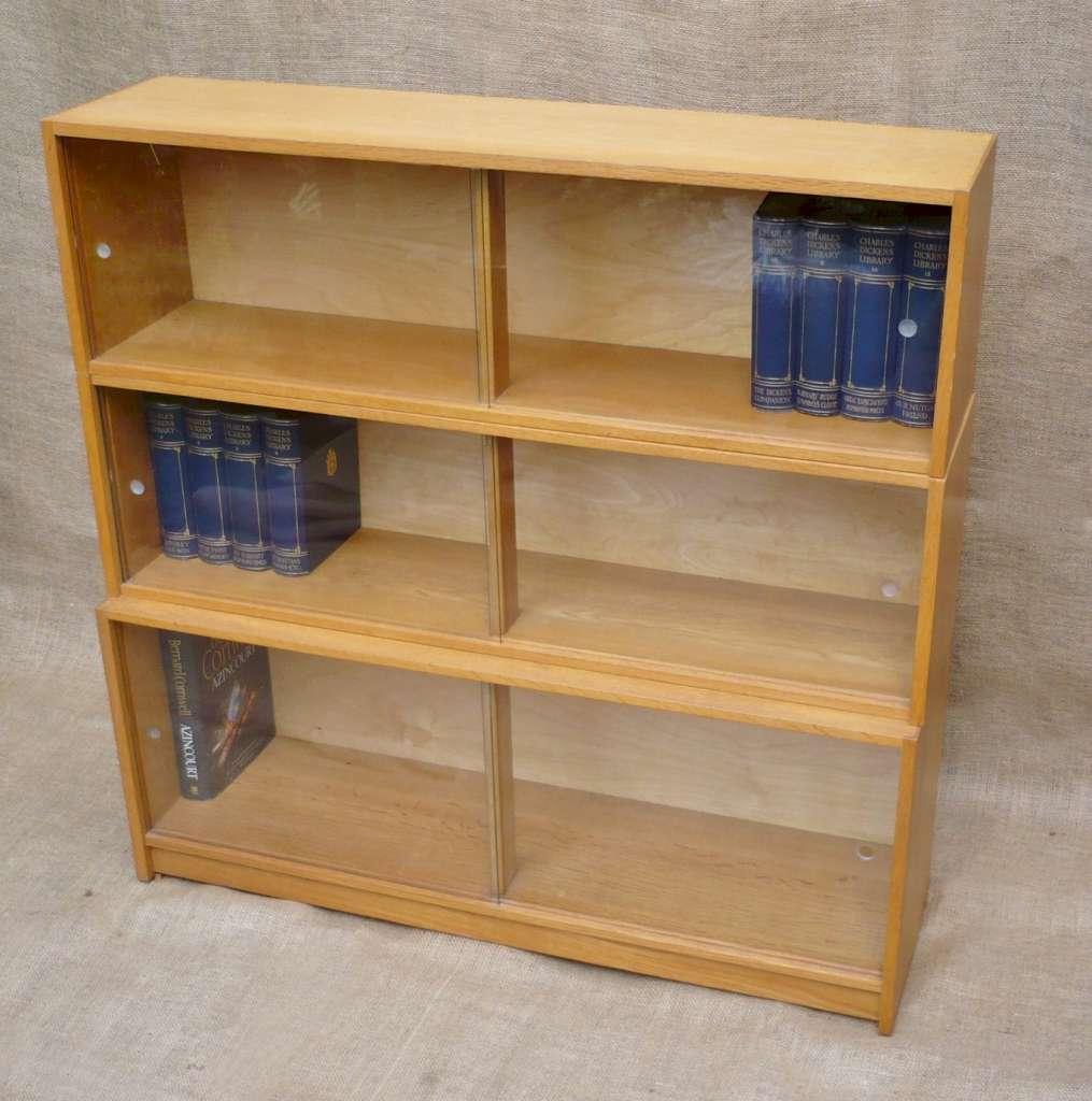 3 tier sectional bookcase in golden oak