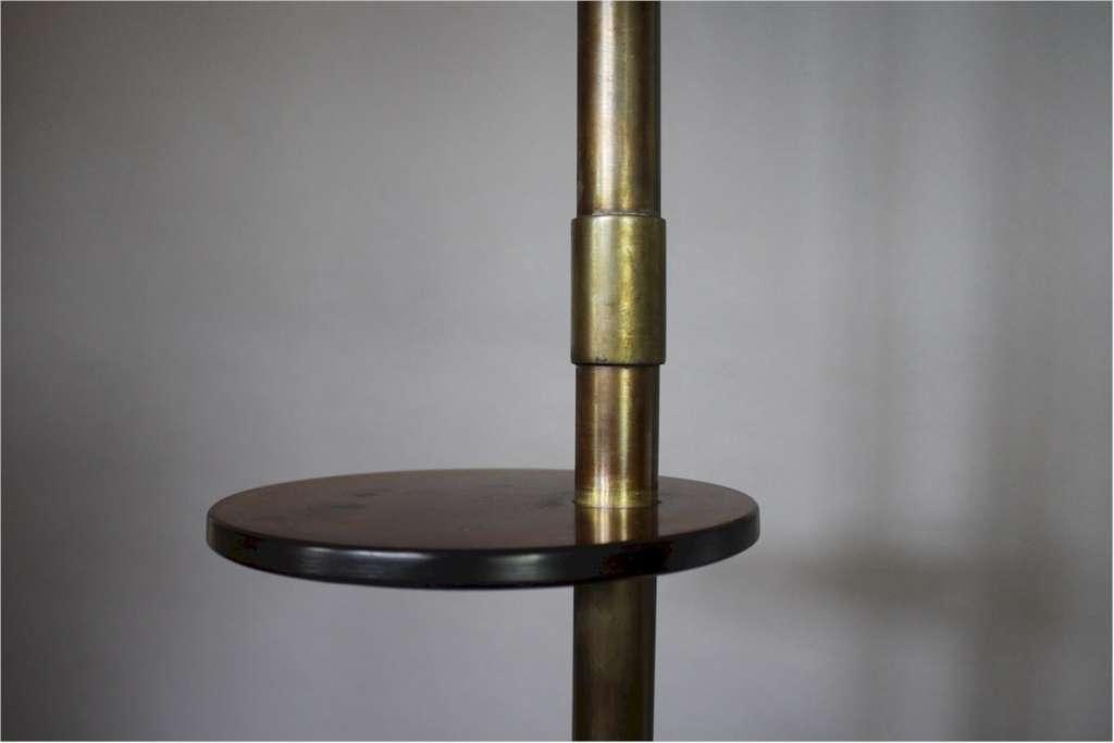 Modernist floor lamp brass and bakelite lighting standard art modernist floor lamp brass and bakelite mozeypictures Gallery