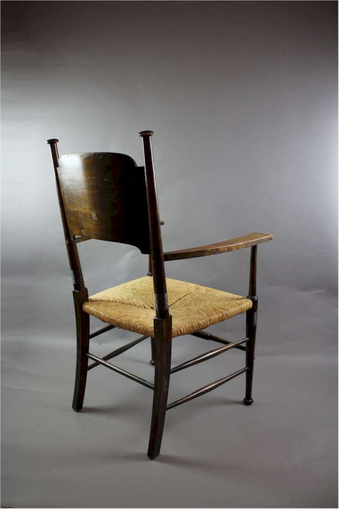 an arts and crafts carver chair by william birch art