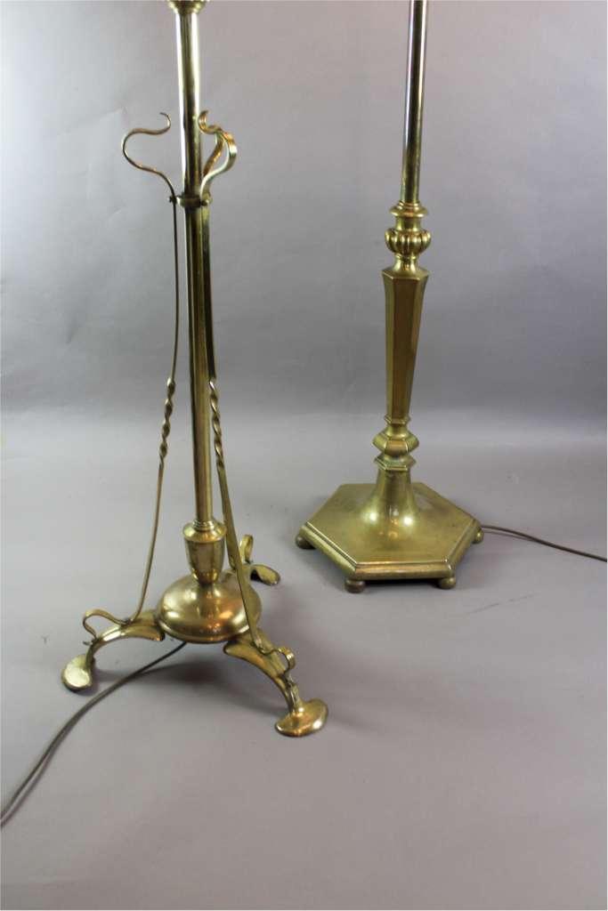 arts and crafts period brass adjustable standard floor. Black Bedroom Furniture Sets. Home Design Ideas