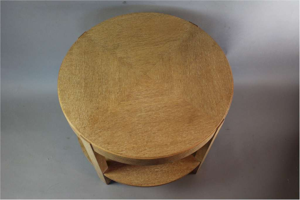 1930's limed oak circular coffee table Heals