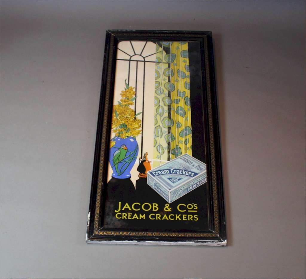 Jacob and Co cream crackers original framed print c1930's