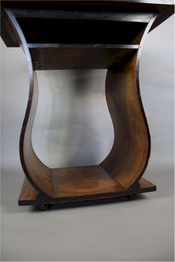 Art Deco Walnut Table On Curved Supports Furniture Art Furniture