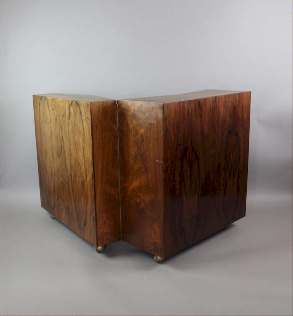 Picture of: Danish Rosewood Mid Century Folding Bar Cocktail Cabinet Sold Art Furniture