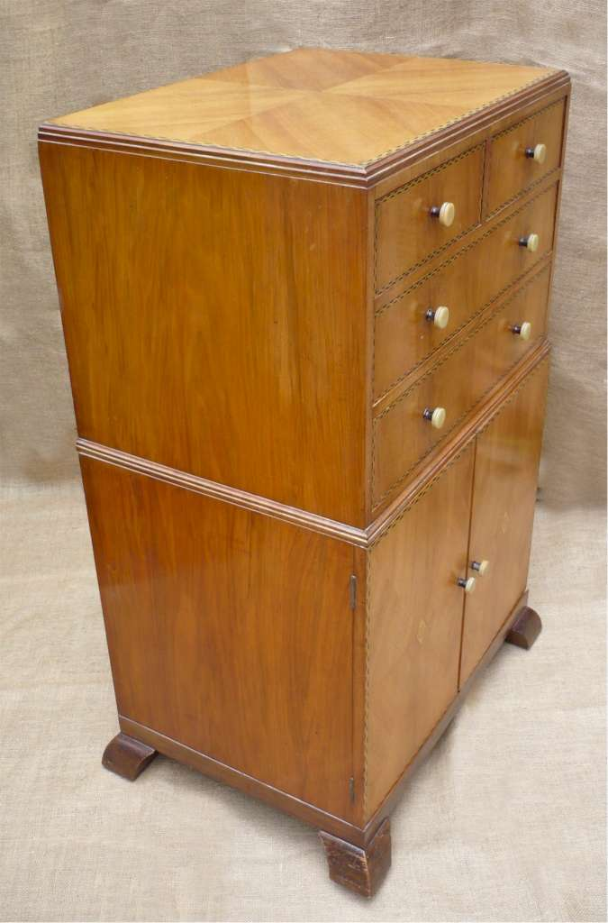 1930s Tallboy Probably Bath Cabinet Makers