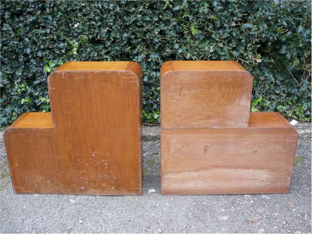 Pair of Art Deco bookcases / bedside cabinets