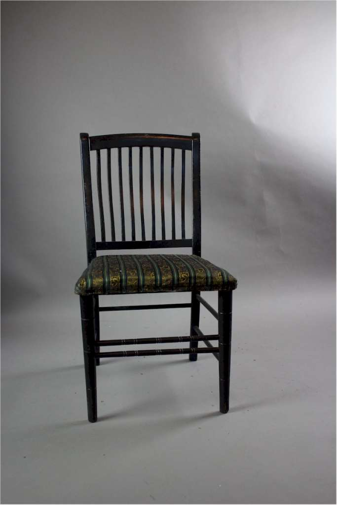 Aesthetic movement child's ebonised chair