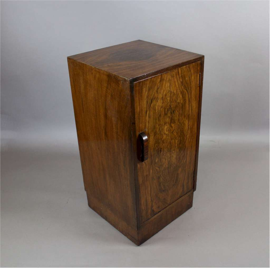 English Art Deco Side Cabinet In Burr Walnut Veneer Art Furniture