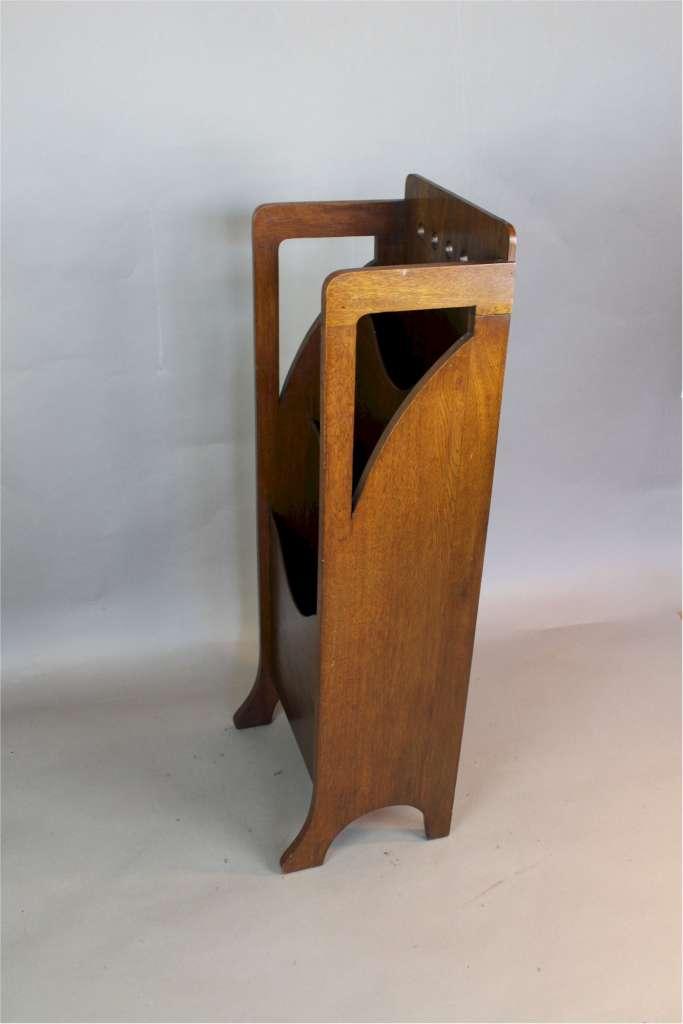 Arts And Crafts Oak Magazine Rack By Finnigans Art Furniture
