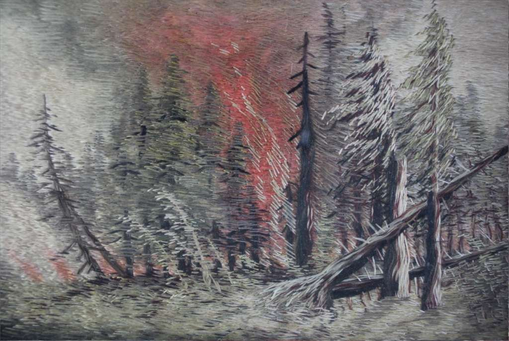 Artwork Forest Fire Drawing