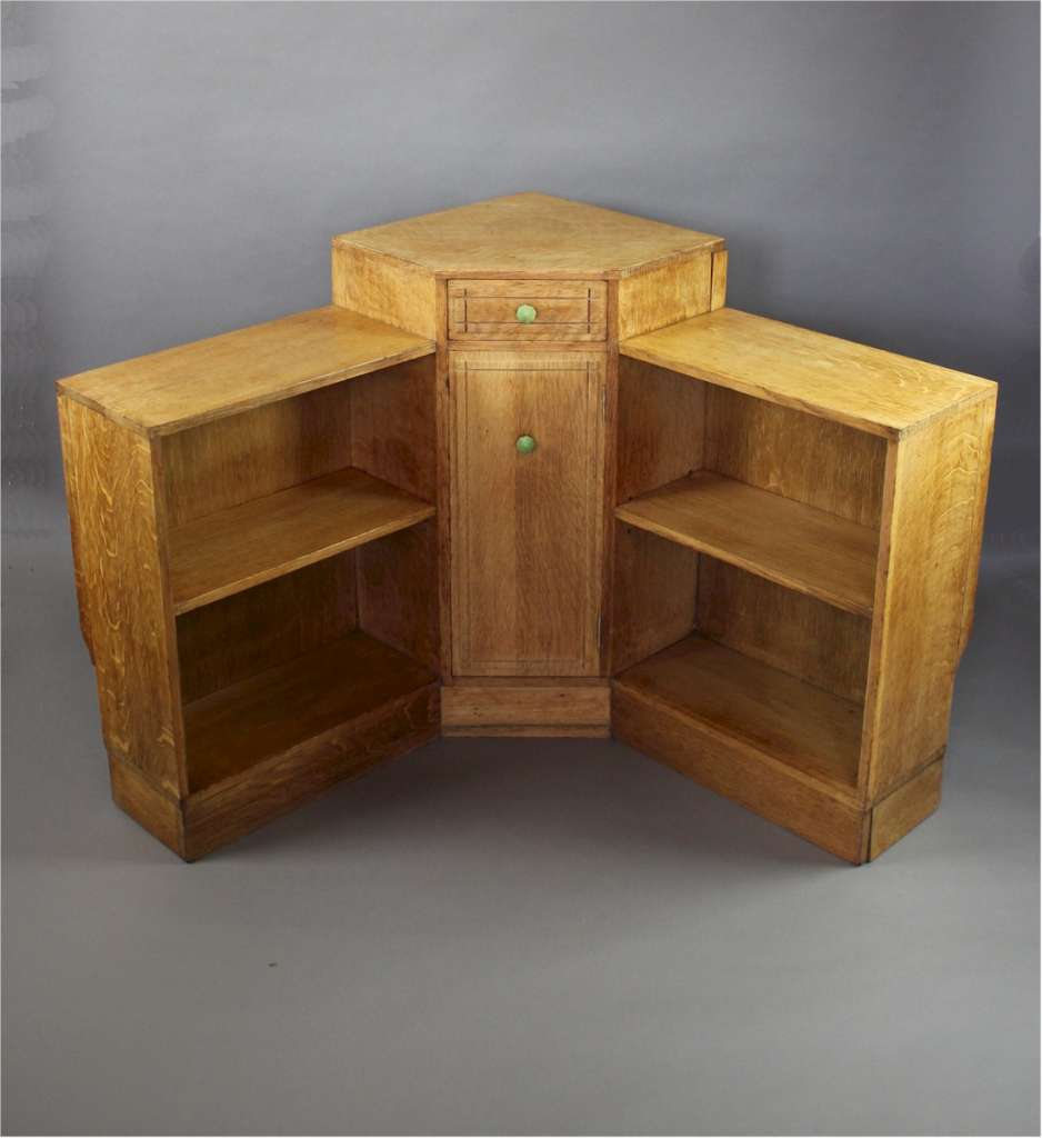 Heals Oak Corner Bookcase C1930 S Sold Art Furniture