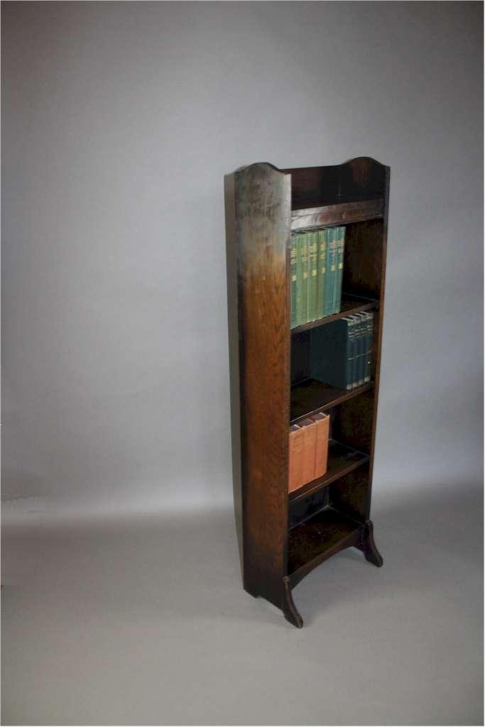 Heals Arts And Crafts Dark Oak Open Bookcase Art Furniture