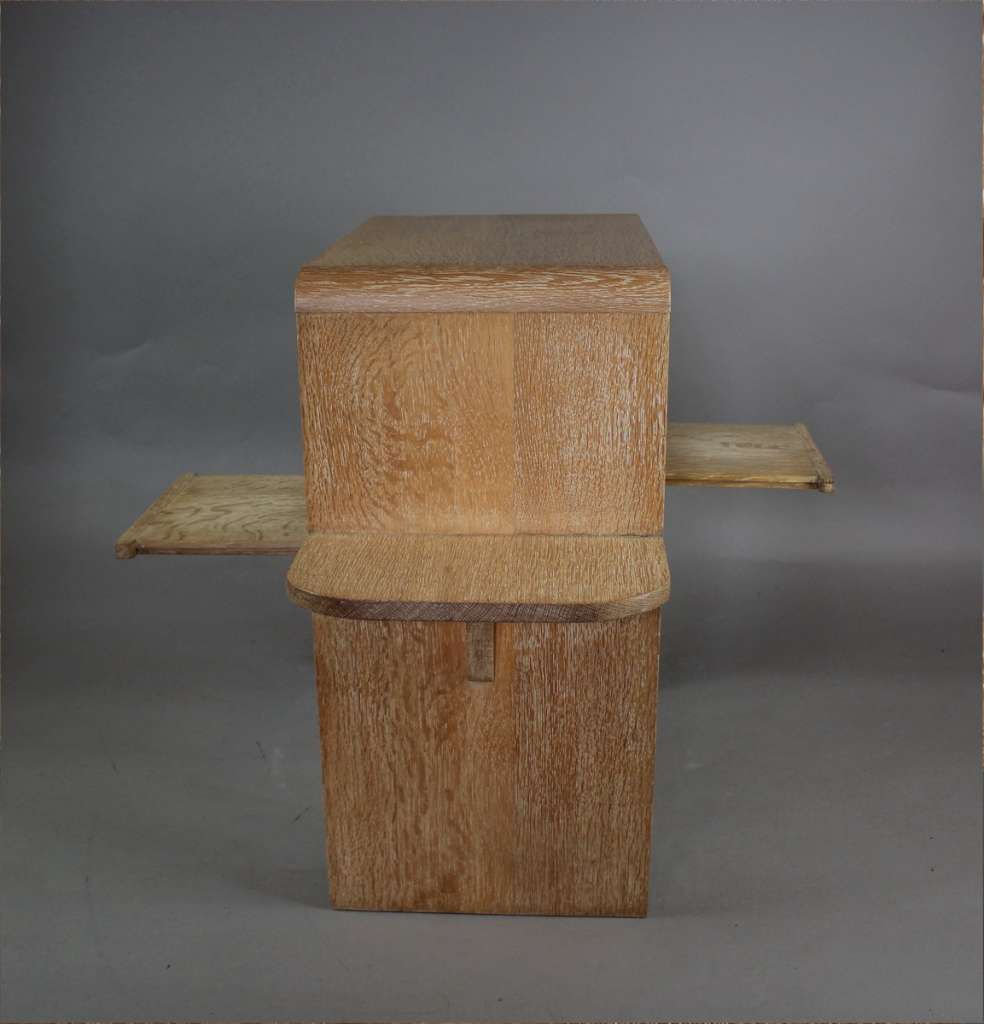 Heals limed oak side table c1930's