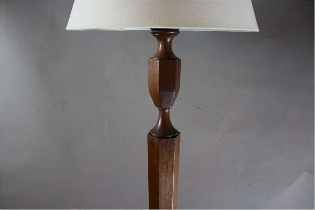 Heals Mahogany Floor Lamp C1920 S Lighting Standard Art Furniture