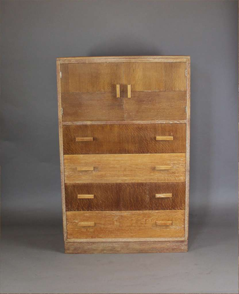 Heals 1930 39 S Tallboy With Two Door Cupboard Above Four Drawers Furniture Art Furniture