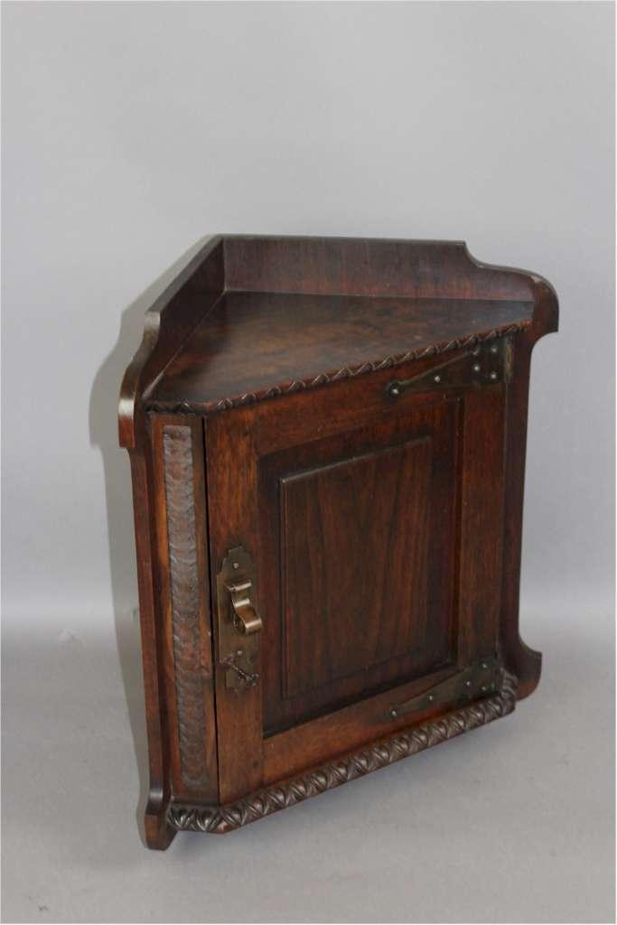 Arts And Crafts Mahogany Corner Wall Cabinet Sold Art Furniture