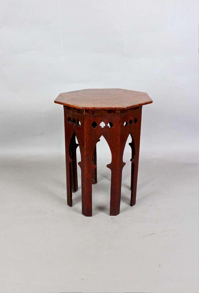 Moorish Arts And Crafts Oak Occasional Lamp Table Sold Art Furniture