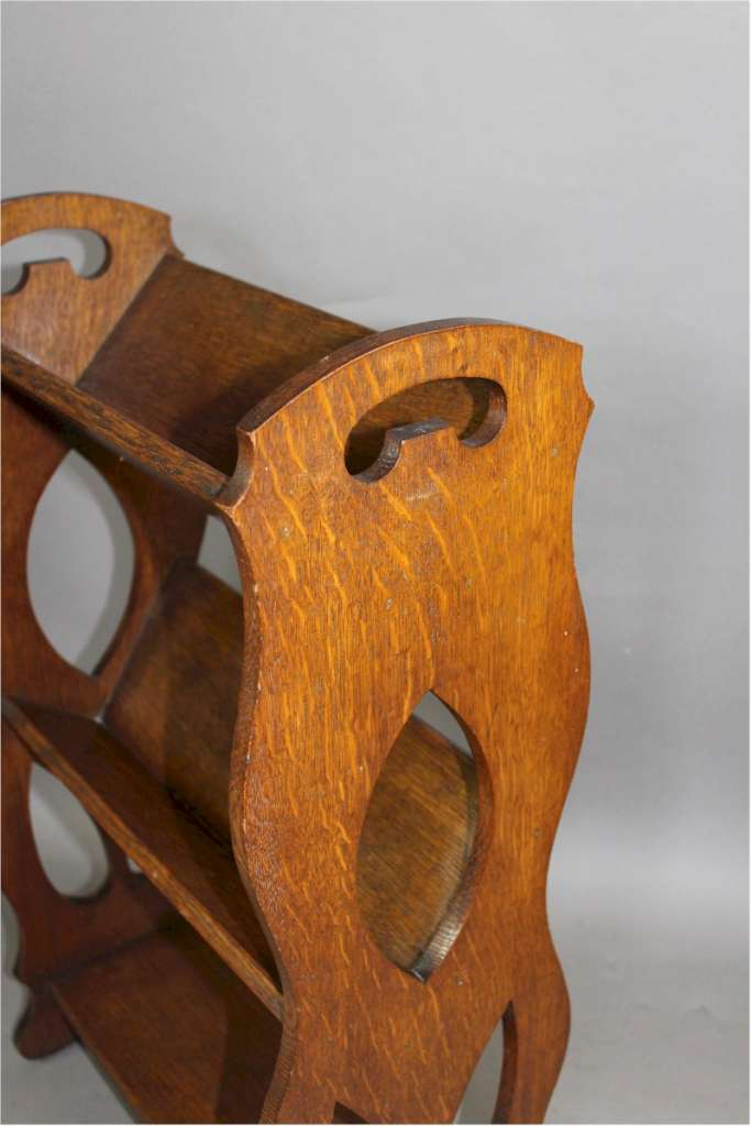 Arts And Crafts Oak Book Rack With Pierced Handles Furniture Bookcases Art Furniture