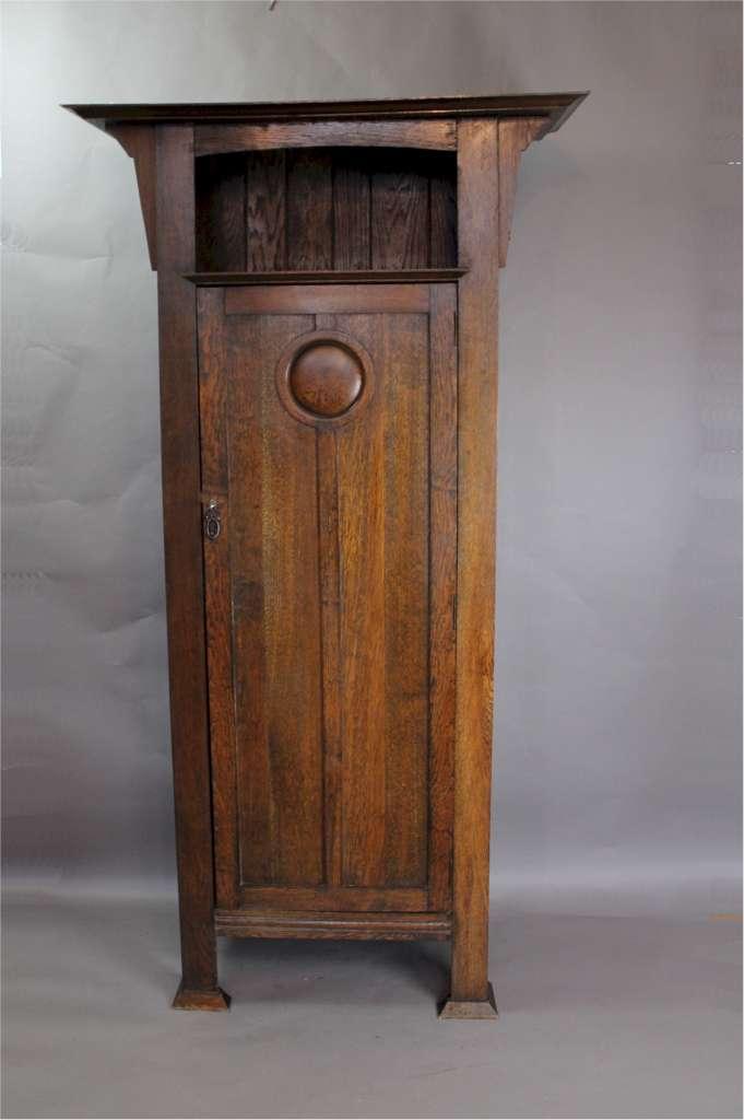 Arts And Crafts Oak Hall Cupboard Sold Art Furniture