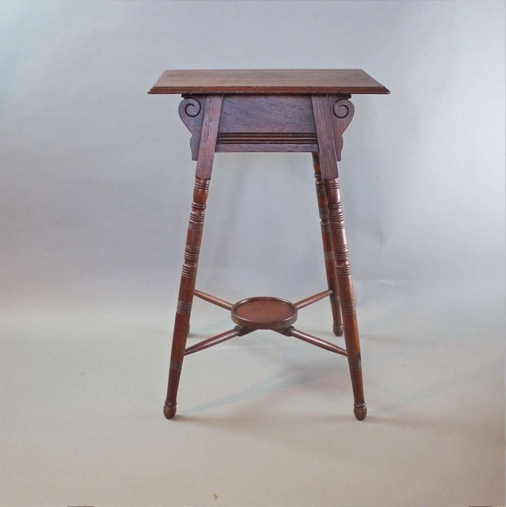 Oak arts and crafts occasional table