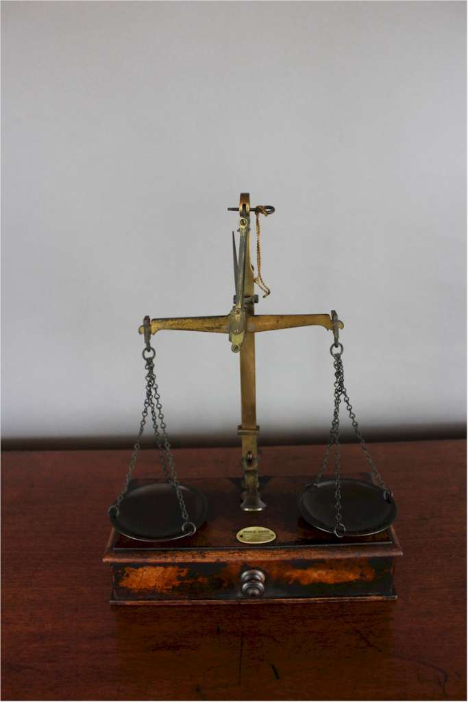 Antique Victorian jewellers scales by Charles Cooper