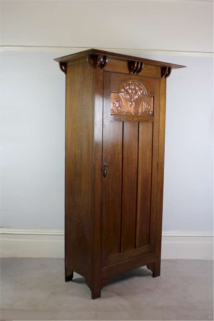 Arts And Crafts Oak Wardrobe By Shapland And Petter Of