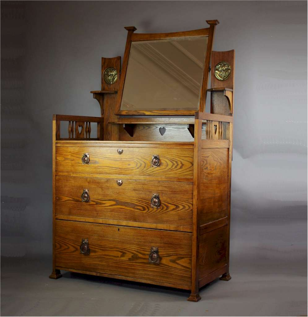 Shapland And Petter Arts And Crafts Dressing Chest C1900 Shapland And Petter Art Furniture