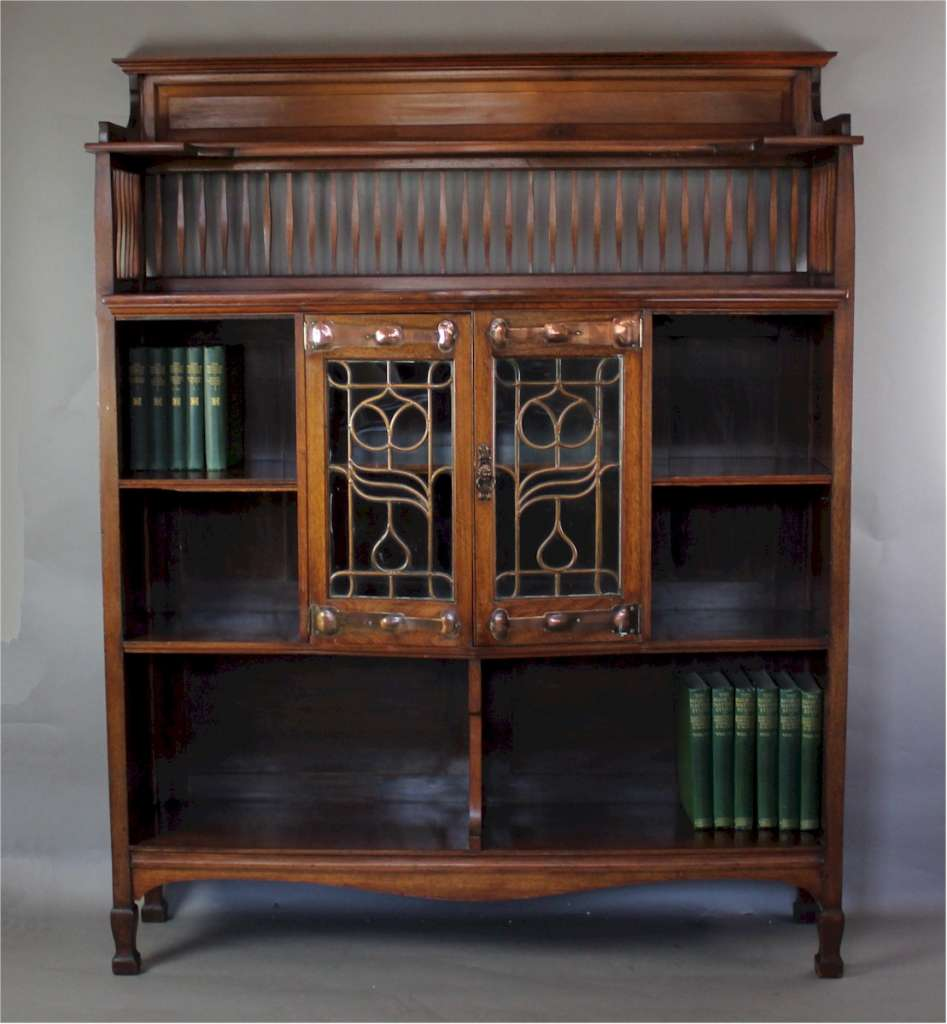 Shapland And Petter Walnut Display Bookcase Art Furniture