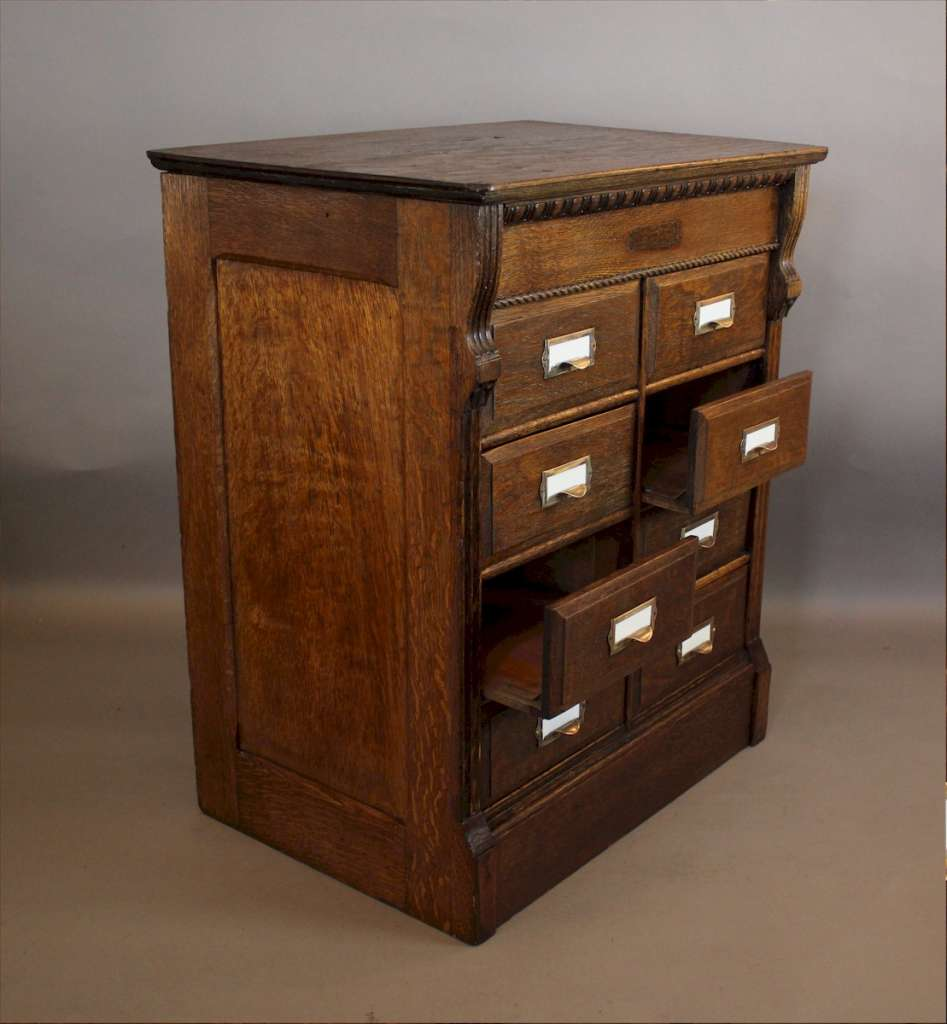 Oak filing cabinet by Canadian Cabinet Co. c1900