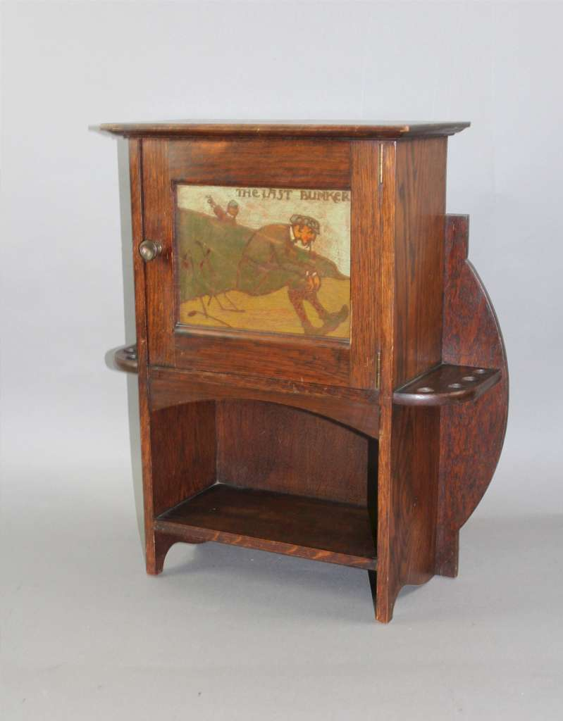Arts And Crafts Oak Smokers Cabinet By Shapland And Petter Of Barnstaple C1900 Shapland And
