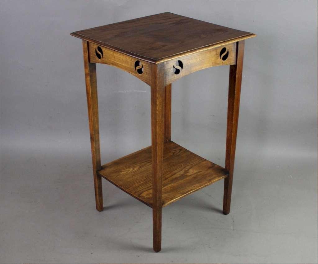... Arts And Crafts Lamp Table With Yin And Yang Cutouts ...