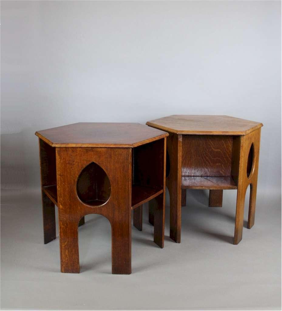 Arts And Crafts Oak Teardrop Table Latest Stock Art Furniture