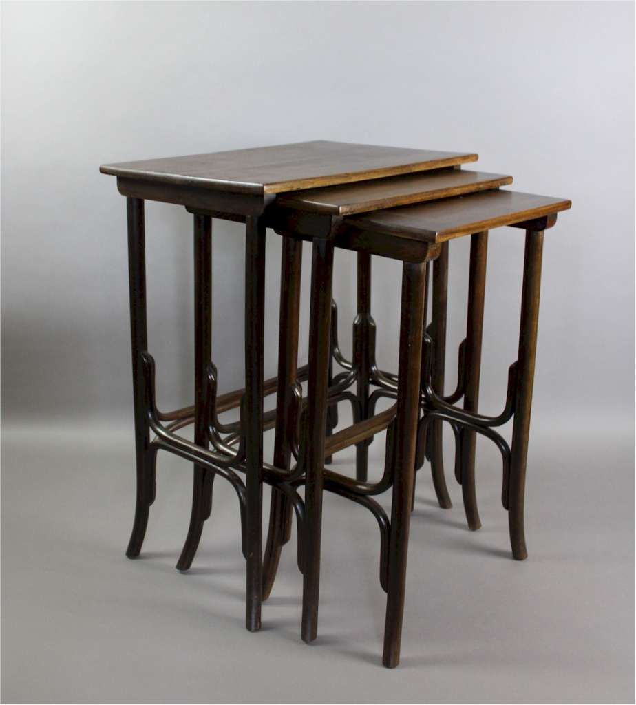 ... Nest Of Bentwood Tables By Thonet ...