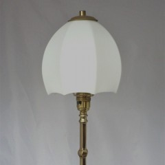 Arts and crafts lamp , white umbrella shade