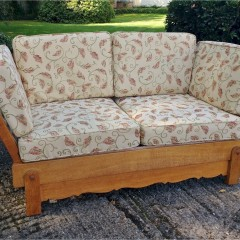 Heal & Son sofa bed in weathered oak