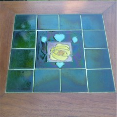Arts and crafts tiled top table